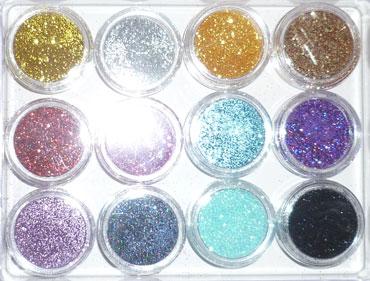 Набор цветных блесток для дизайна
